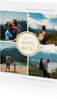 Vakantiekaart 'Vakantiegroetjes' met 4 foto's