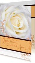 Valentijnskaarten - Valentijn creme roos voor jou