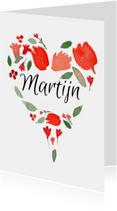 Valentijnskaarten - Valentijn, naam in een hartje