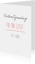 Valentijnskaarten - valentijns to do list
