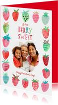 Valentijnskaarten - Valentijnskaart fruit & aardbeien