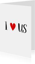 Valentijnskaart I love us