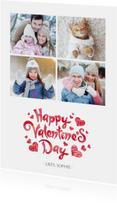 Valentijnskaart met een fotocollage van 4 foto's