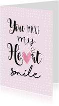 Valentijnskaart smile