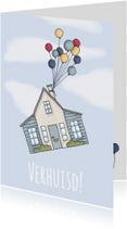 Felicitatiekaarten - Verhuisd ballonnen - LF