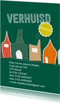 Verhuiskaarten - Verhuisd illustratie huizen