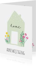 Verhuiskaart Flowerhome