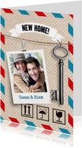 Verhuiskaart foto met sleutel