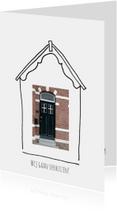 Verhuiskaart getekend huis