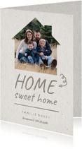 Verhuiskaart Home sweet home fotohuisje