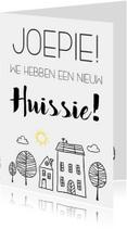 Verhuiskaarten - Verhuiskaart: Joepie we hebben een nieuw huissie!