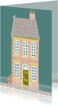 Verhuiskaarten - Verhuiskaart met oudroze huis