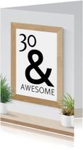 Verjaardagskaarten - Verjaardag 30 and awesome