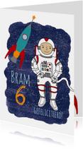 Verjaardagskaarten - verjaardag astronaut