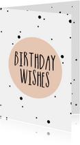 Verjaardag - Birthday wishes - Roze stipjes