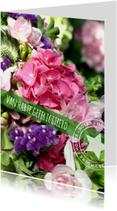 Verjaardagskaarten - Verjaardag bloemen blij