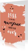 Verjaardagskaarten - Verjaardag geboortejaar 1988 belangrijke nieuwsfeiten