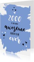 Verjaardagskaarten - Verjaardag nieuwsfeiten geboortejaar 2000