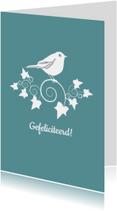 Verjaardagskaarten - Verjaardagkaart Bird Ivy Groen