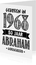 Verjaardagskaart Abraham 1968