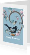 Verjaardagskaarten - Verjaardagskaart Blackbird-Blue