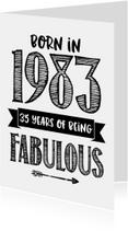 Verjaardagskaarten - Verjaardagskaart Born in 1983