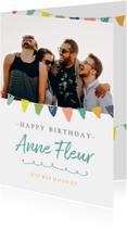 Verjaardagskaart - foto slingers