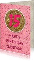 Verjaardagskaarten - verjaardagskaart glitter en dots