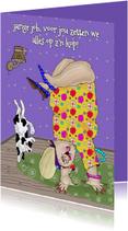 Verjaardagskaarten - Verjaardagskaart Handstand