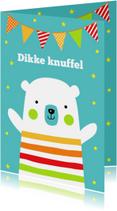Verjaardagskaart ijsbeer slinger