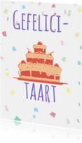 Verjaardagskaarten - Verjaardagskaart, kleurrijk