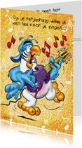 Verjaardagskaarten - Verjaardagskaart Rocco verjaardag 11 papegaai gitaar