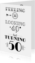 Verjaardagskaart turning 50