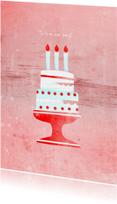 Verjaardagskaart Verjaardagstaart