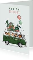 Verjaardagskaart Volkswagen groen