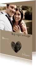 Verlovingskaart vingerafdrukken
