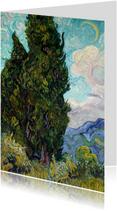 Vincent van Gogh. Landschap met cipressen