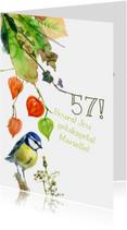 Verjaardagskaarten - Vogel met lampionnetjes