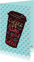 Vriendschapskaart koffie PA