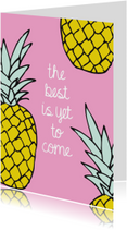 Spreukenkaarten - Vrolijk ananas zomer kaartje