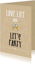 Woonkaarten - Woonkaart  Love life and let's party
