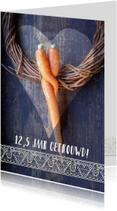 Jubileumkaarten - Wortel knuffel jubileumkaart