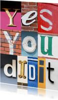Yes you did it - letters