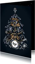 Zakelijke kerstkaart kerstboom met logo