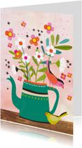 Zomaar kaarten - Zomaar kaart bloemen in kan