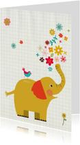 Zomaar kaarten - Zomaar met olifant en vogeltje