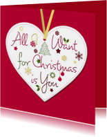 Kerstkaarten - All I Want for Christmas is you0