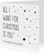 Kerstkaarten - All I Want For Christmas - Stars