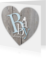 Babyshower Letters Blauw