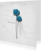 Bedankkaart Bloemen Blauw